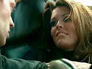 Brown-haired jiggly snatch getting feasted xxx in the car retro pornography