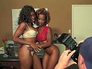 Black butt dark-hued man rod railing in interracial ffm pornography