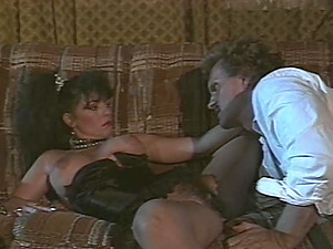 Hyapatia will lie down on the couch and spread her gams for the stud