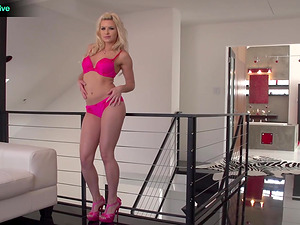 Lovely blonde adult movie star Anikka Albrite hard-core hump