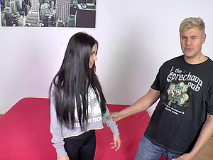 Big culo Sasha banging on massive dick while yelling