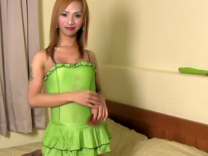 Super-cute blonde tranny is in need of a hot fellow's big man rod