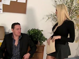 Cougar Chief Alana Evans Leaned Over The Desk