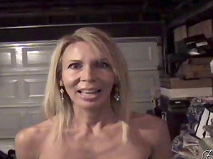Erica Lauren fucked on a fetish mask of a car by her insatiable man