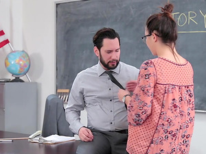 CollegeGirl Pretends Fucks Her Way Out Of Trouble