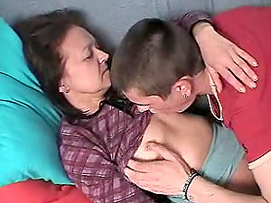 Mature woman seduced by a horny hunk for a drilling game