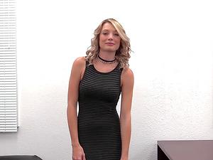 Blonde hotness Ashlynn grabbed and taken insatiably on a sofa