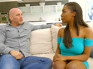 Chocolate chick Daya Knight is excellent at making a dick stiff