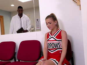 Sydney Cole is a randy cheerleader who cannot stand against a Big black cock