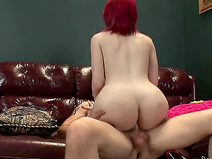 Buxom shemale Sarina Valentina gets her cock-squeezing asshole fucked