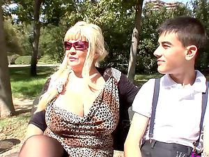 Warning Big natural tits Emmy Granny likes small cocks doggystyle