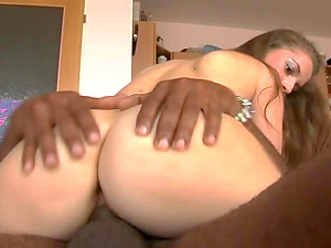 Sweet thing Paloma bouncing on Mark Anthony's black dong