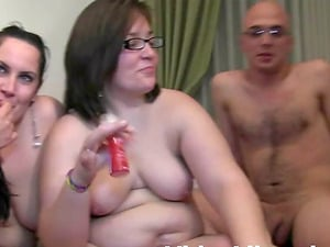 Lecherous couple Bruno y Maria in a threesome with a chubby lady