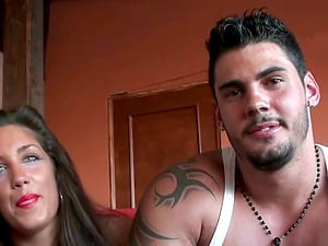 Horny brunette Maria knows how to make a fellow's cock stiff