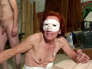 Alexotis is a hot babe with mask who likes being a part of a threesome