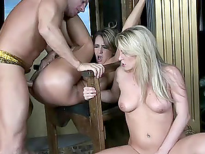Amazing FFM action with Trina Michaels, Harmony Rose and Lee Stone