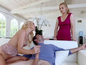Fabulous Aaliyah Love and Sloan Harper in a magical threesome