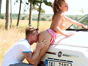 Lovely lady Bella Baby cannot resist a handsome lover's cock