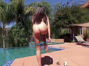Brunette bombshell Olivia Lua enjoying Mick Blue's large shaft
