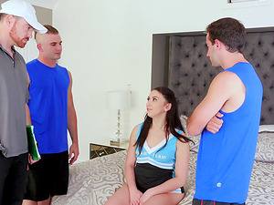 Three massive dongs for alluring brunette Mandy Muse