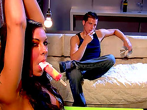 Chase Evans the spunky dark haired get finger-tickled and fucked