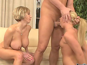 Ally Kay and Kasey Grant love gonzo FFM hump indoors