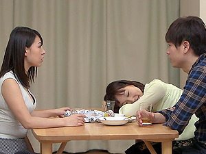 Foxy Japanese honey likes the taste of her boyfriend's boner