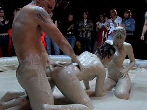 Teri Summers has a great time during a public messy sex game