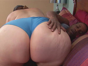 Obese woman with a big ass wants to ride a black love tool