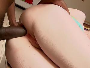 Cute blonde Krys Foxy seduced by a black lover for a fuck