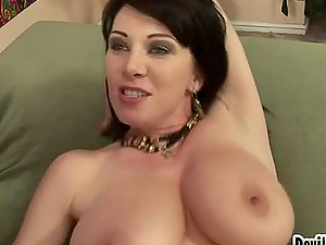 Beautiful and gorgeous mummy gets her hairy vagina banged