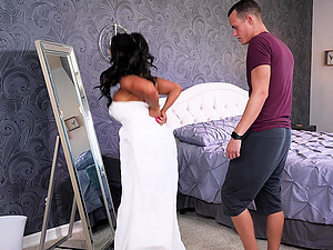 Remarkable titty fucking with a luscious milf Raven Hart