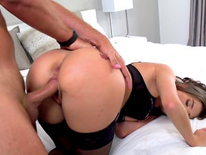 Petite brunette Lana Rhoades seduces a guy with her sexual skills