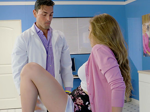 Lena Paul going to the doctor makes his cock hard by looking her