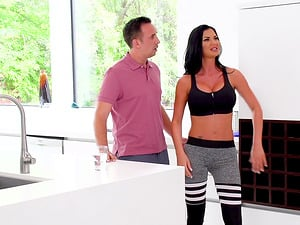 Two horny MILFs Courtney Taylor and Jasmine Jae and one lucky guy