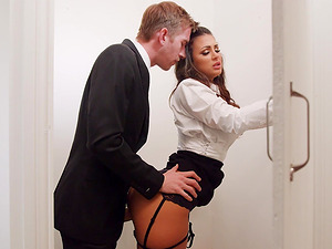 Hot chick Susy Gala enjoys riding a boner while in a toilet