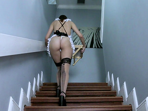 Shae Celestine is an obedient maid ready to bend over for a dick