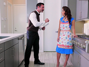 Keisha Grey is a horny maid who will do anything for a dick