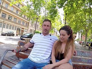 Melany Kiss bends over for a handsome man's big boner