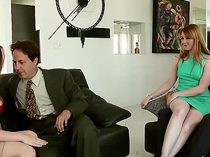 Sexy Swinger Allision Moore Is Fucked by a Long Dicked Guy While Another Couple Watches