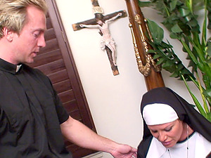 Kelly Madison is a horny nun craving a minister's hard prick