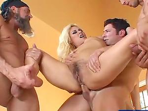Three horny men penetrate Cindy Crawford's amazing body