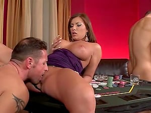 Hot ass Dona banging on big cock hardcore in group porn