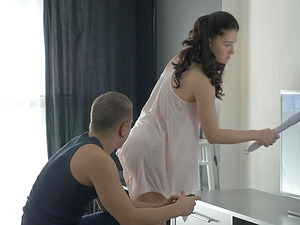 Flexible Bailey anal screwed hardcore while she moans