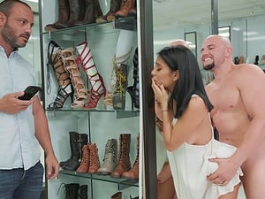Monica Asis seduced by a salesman for an incredible cock ride