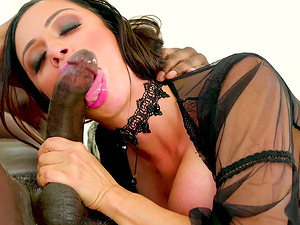 Ariella Ferrera gets to choke on a black lover's massive tool