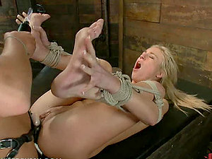Wild Domina Predominant and Fucking a Obedient Blonde Damsel
