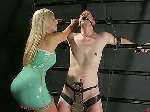 Gobbling a Predominant Blonde Honey's Butt in Female dominance Vid