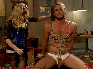 Gorgeously Big-titted Blonde Tantalizes A Truly lucky Man