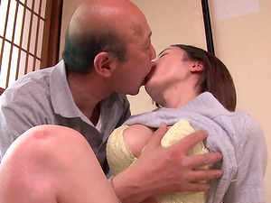 Aimi Yoshikawa is interested in a fuck with a mature fellow